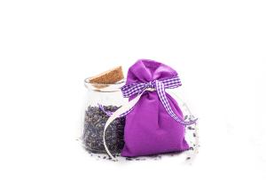 Saculet aromatic contemporana cu inflorescenta de lavanda