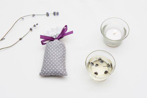 Saculet aromaterapie cu flori de lavanda Vintage Dots