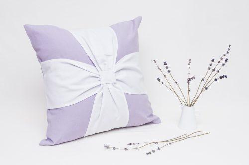 Perna aropaterapeutica cu lavanda Elegance Lila-Alb