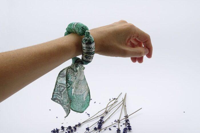 Bratara aromatica cu lavanda - Mint green