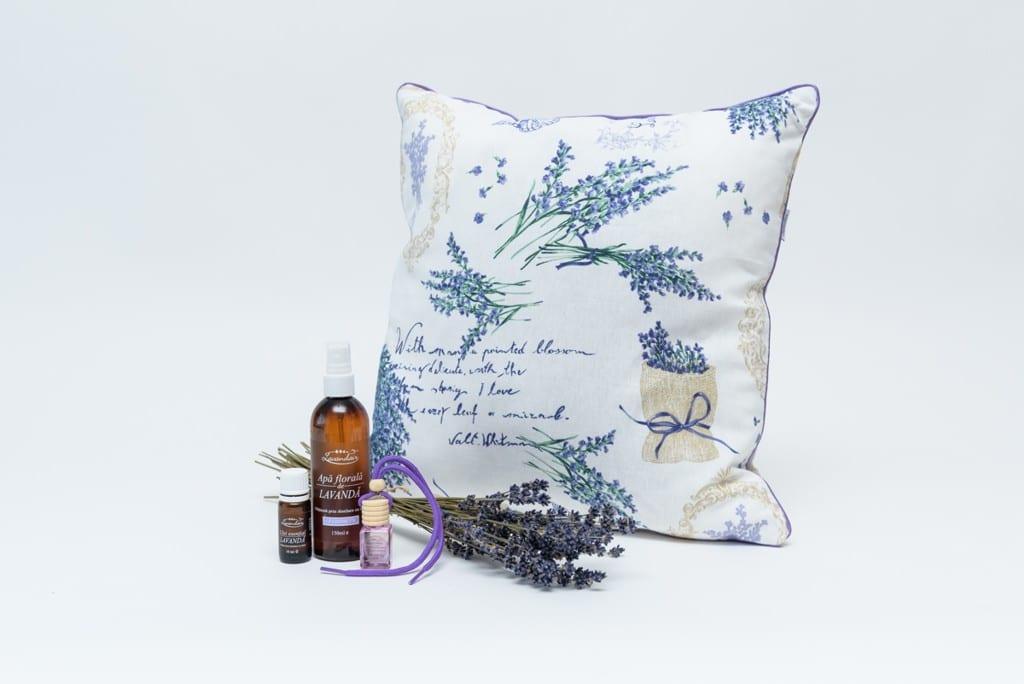 Perna aromatica + apa florala+ulei sential de lavanda