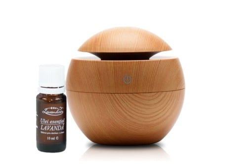 Difuzor aromaterapie Aromaball + Ulei esential de lavanda Lavandair