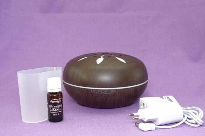 Continut cutie difuzor de aromaterapie peabble cu ulei de lavanda