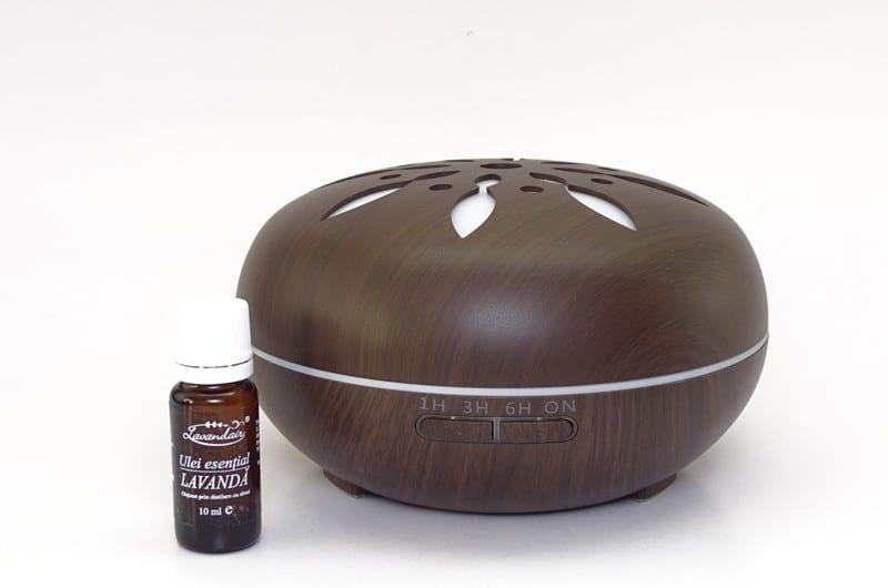 difuzor de aromaterapie peabble wenge plus ulei de lavanda