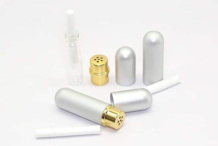 Inhalator personal argintiu
