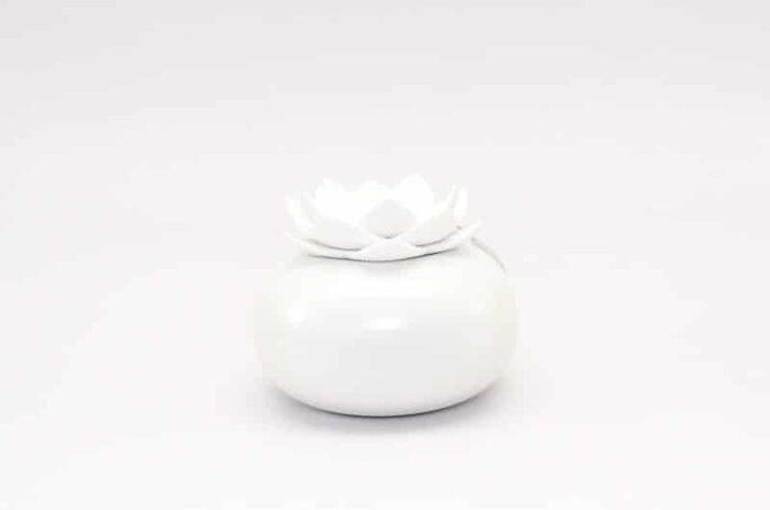 Difuzor de aromaterapie Lotus alb-alb