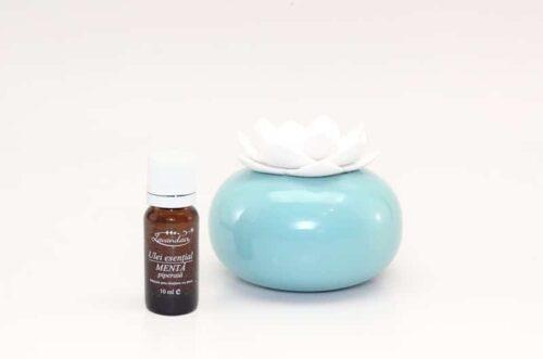 Difuzor aromaterapie Lotus WB cu ulei de menta