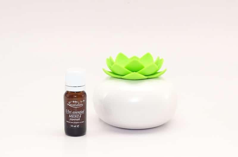 Difuzor aromaterapie Lotus GW cu ulei de menta