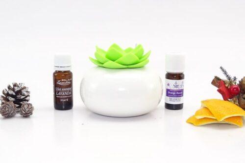 Difuzor de arome cu ulei de lavandă şi portocale