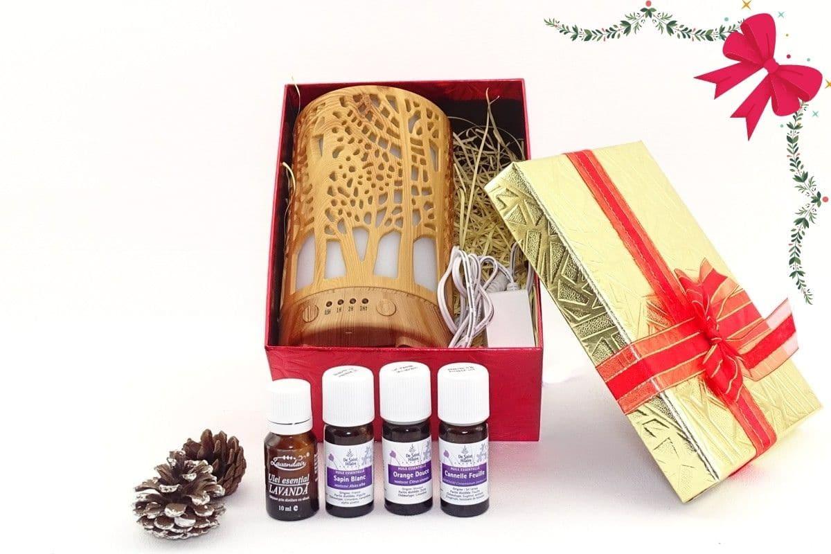 Difuzor aromaterapie forest + 4 uleiuri esentiale